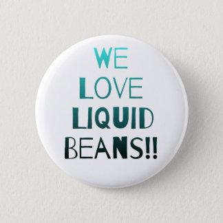 WeLoveLiquidBeans Teal Fade 6 Cm Round Badge