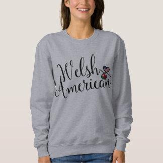 Welsh American Entwinted Hearts Sweatshirt