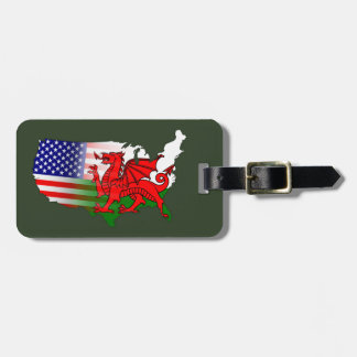 Welsh American Wales USA Luggage Tag
