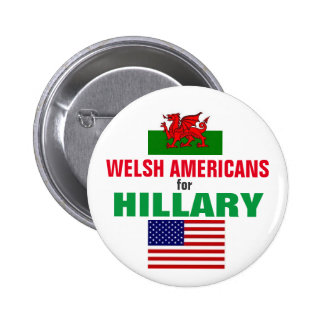 Welsh Americans for Hillary 2016 6 Cm Round Badge