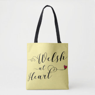 Welsh At Heart Grocery Bag, Wales Tote Bag