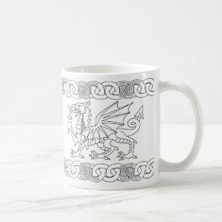 Welsh Celtic Mug With Dragon And Celtic Knots