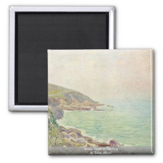 Welsh Coast In The Fog By Sisley Alfred Magnet