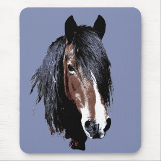 Welsh cob portrait mouse pad