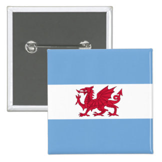 Welsh Colony In Patagonia, Argentina flag 15 Cm Square Badge