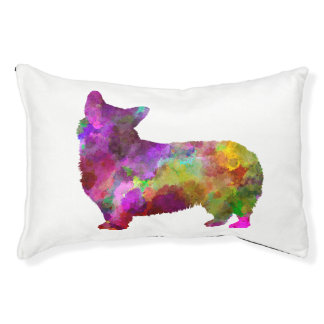 Welsh Corgi Cardigan in watercolor Pet Bed