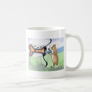 Welsh Corgi dog archery Coffee Mug