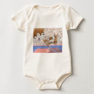 Welsh Corgi dog Taekwondo Baby Bodysuit