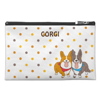 welsh corgi dot travel accessory bag
