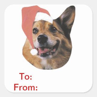 Welsh Corgi Gift Tags Sticker
