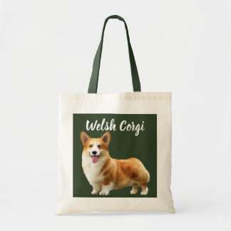Welsh Corgi Illustrated Tote Bag