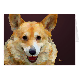 "Welsh Corgi ""Jazz"" Fences For Fido Card"