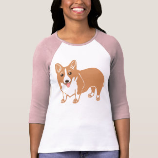 Welsh Corgi Ladies Raglan T-Shirt