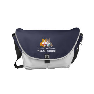 welsh corgi messenger bag