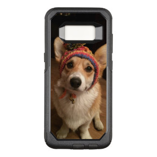 Welsh Corgi Pembroke Wearing A Hand Knitted Hat OtterBox Commuter Samsung Galaxy S8 Case