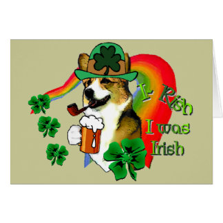 Welsh Corgi Saint Patrick's Day Card