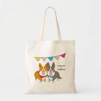 welsh corgi tote bag