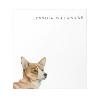 Welsh Corgi Watercolor Painting Notepads