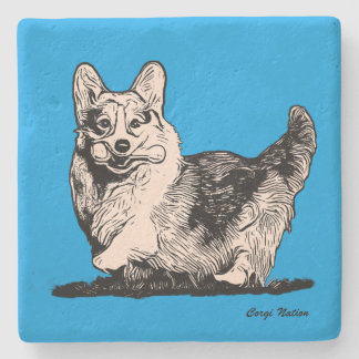 Welsh Corgi with a Tail Coaster