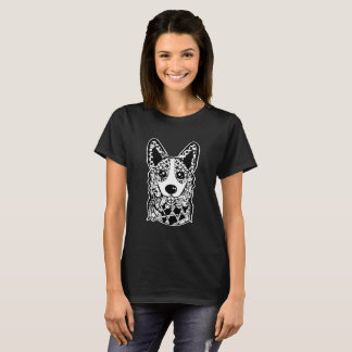 Welsh Corgy Face Graphic Art T-Shirt