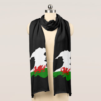 Welsh country flag scarf