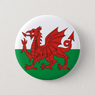 Welsh Dragon 6 Cm Round Badge