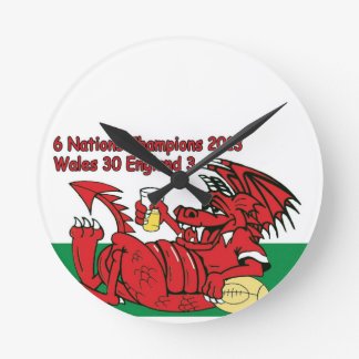 Welsh Dragon, 6 Nations Champions, Wales v England Round Clock
