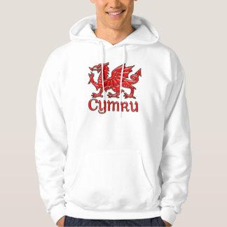 Welsh Dragon Cymru Hoodie Wales, St. David's Day