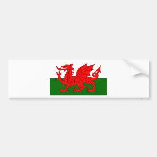 Welsh Dragon Flag Bumper Sticker