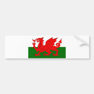 Welsh Dragon Flag Bumper Sticker