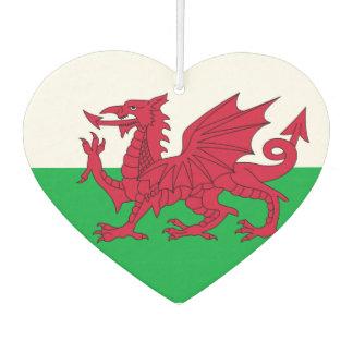 Welsh dragon flag car air freshener