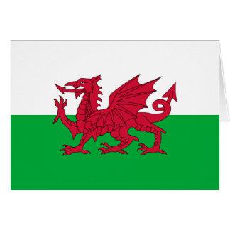 Welsh dragon flag cards