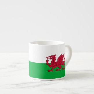 Welsh dragon flag espresso mug