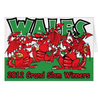 Welsh Dragon, Grand Slam Winners 2012 Card