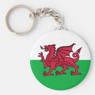 Welsh Dragon Basic Round Button Key Ring