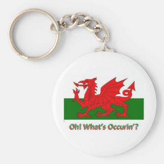 welsh dragon key ring