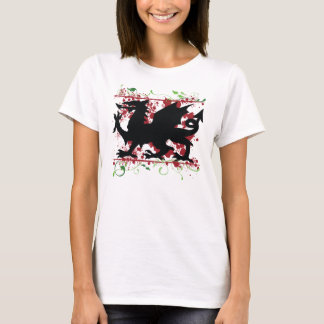 Welsh Dragon Ladie's Fitted T-Shirt