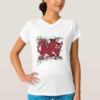 Welsh Dragon Ladie's Micro Fiber Sleeveless T Shirt
