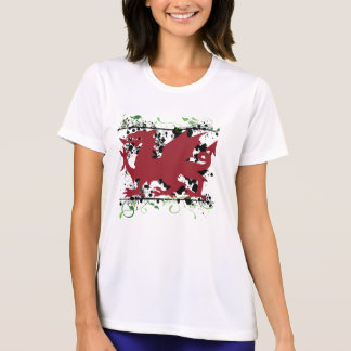 Welsh Dragon Ladie's Micro Fiber T-Shirt