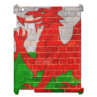 Welsh dragon on a brick wall iPad case