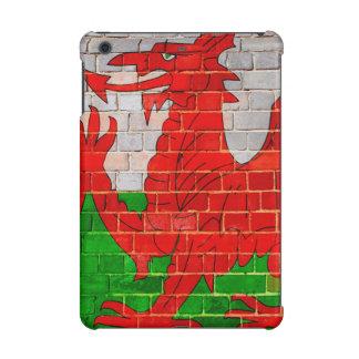 Welsh dragon on a brick wall iPad mini cover