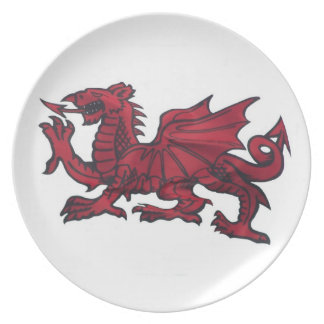 Welsh Dragon Party Plates