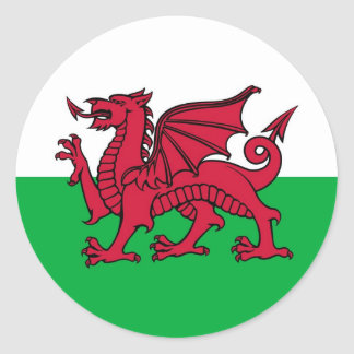 Welsh Dragon Round Sticker