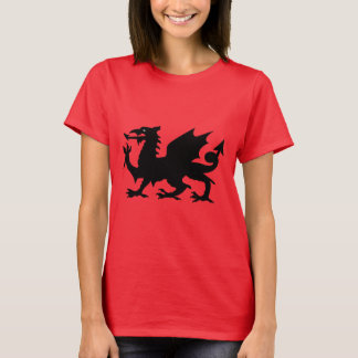 Welsh Dragon Silhouette T-Shirt