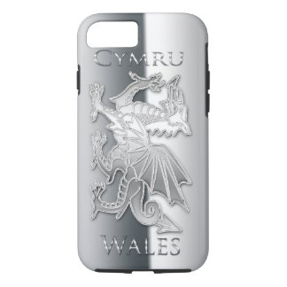 Welsh Dragon Silver Effect iPhone 7, Tough iPhone 7 Case