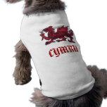 Welsh dragon sleeveless dog shirt