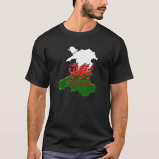 Welsh Dragon Tee Embossed Wales St. David