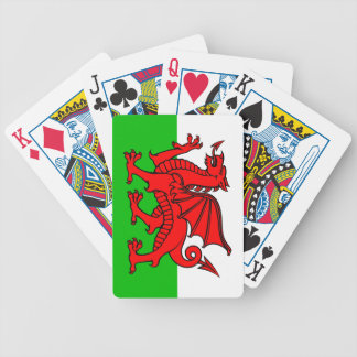 Welsh flag bicycle playing cards