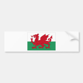 Welsh Flag Bumper Stickers