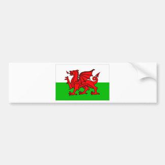 Welsh-Flag Bumper Sticker